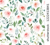 seamless pattern with large...   Shutterstock . vector #1222413841