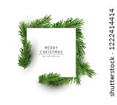 a christmas square shaped... | Shutterstock .eps vector #1222414414