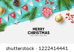 vector christmas composition... | Shutterstock .eps vector #1222414441