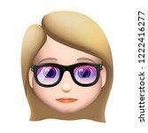 woman emoji icon  medium light... | Shutterstock .eps vector #1222416277