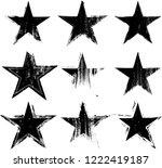 textured grunge star used for...   Shutterstock .eps vector #1222419187