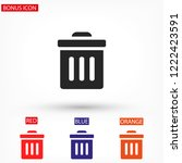 trash vector icon | Shutterstock .eps vector #1222423591
