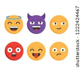 smile icons.set of emoticons.... | Shutterstock .eps vector #1222424467