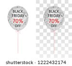 translucent balloon with black... | Shutterstock .eps vector #1222432174