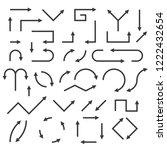 black arrows. vector... | Shutterstock .eps vector #1222432654