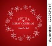 light merry christmas greeting... | Shutterstock .eps vector #1222434364