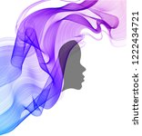 woman's profile with long ... | Shutterstock .eps vector #1222434721