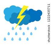 thunderstorm. rain. trendy flat ...