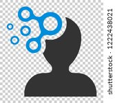 mind people icon in flat style. ... | Shutterstock .eps vector #1222438021