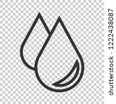 water drop icon in flat style.... | Shutterstock .eps vector #1222438087