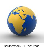 3d earth globe    africa and... | Shutterstock . vector #122243905