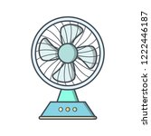 charging fan electronic devices ... | Shutterstock .eps vector #1222446187