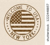 welcome to usa postmark. new... | Shutterstock . vector #1222448857