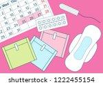 vector illustration of pills... | Shutterstock .eps vector #1222455154