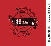 46 years anniversary... | Shutterstock .eps vector #1222455634