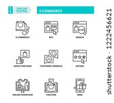 line icons about e commerce.... | Shutterstock .eps vector #1222456621