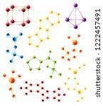 vector molecule structure model ...   Shutterstock .eps vector #1222457491