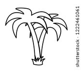 palm tropical tree   vector... | Shutterstock .eps vector #1222461061