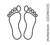 footprints   vector icon... | Shutterstock .eps vector #1222461151