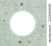 christmas card with stars  | Shutterstock . vector #1222463434