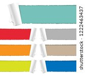 color torn paper collection  | Shutterstock . vector #1222463437