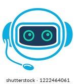 chatbot. robo advisor  robo... | Shutterstock .eps vector #1222464061
