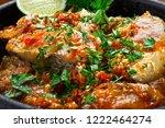 moqueca fish and shrimp ... | Shutterstock . vector #1222464274