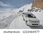 khardung la pass  india   april ... | Shutterstock . vector #1222464577