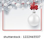 white merry christmas and happy ... | Shutterstock .eps vector #1222465537
