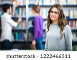group of students at work in a... | Shutterstock . vector #1222466311