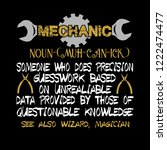 mechanic quote and saying.... | Shutterstock .eps vector #1222474477