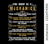 mechanic quote and saying. you... | Shutterstock .eps vector #1222474504