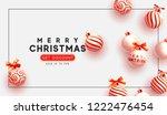 christmas vector background.... | Shutterstock .eps vector #1222476454