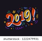 2019 bright colorful poster ... | Shutterstock .eps vector #1222479931
