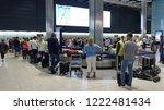 london heathrow airport  uk  ... | Shutterstock . vector #1222481434