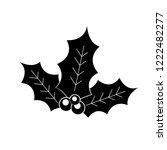 christmas mistletoe icon  logo... | Shutterstock .eps vector #1222482277