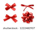 red bows set of realistic ... | Shutterstock .eps vector #1222482937