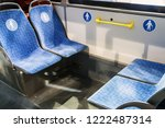 modern city bus or electric bus ... | Shutterstock . vector #1222487314