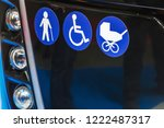modern city bus with seats for... | Shutterstock . vector #1222487317