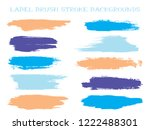 simple label brush stroke... | Shutterstock .eps vector #1222488301