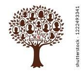 genealogy tree. genealogical... | Shutterstock .eps vector #1222493341