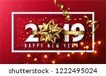 2019 happy new year... | Shutterstock .eps vector #1222495024