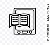 book reader vector linear icon... | Shutterstock .eps vector #1222497571