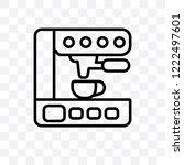espresso maker vector linear... | Shutterstock .eps vector #1222497601