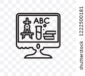 online education vector linear... | Shutterstock .eps vector #1222500181