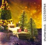christmas rustic decoration.... | Shutterstock . vector #1222500964