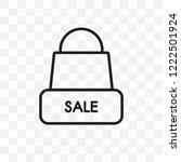 merchandise vector linear icon... | Shutterstock .eps vector #1222501924