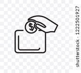 insert coin vector linear icon... | Shutterstock .eps vector #1222501927