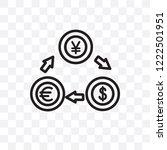 exchange rate vector linear... | Shutterstock .eps vector #1222501951