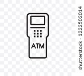 atm machine vector linear icon... | Shutterstock .eps vector #1222502014